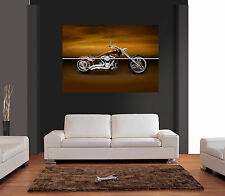 Orange CUSTOM HARLEY DAVIDSON GIANT WALL ART PRINT PICTURE POSTER