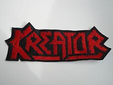 KREATOR EMBROIDERED LOGO THRASH METAL BACK PATCH