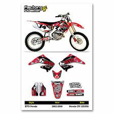 2002-2008 HONDA CR 125-250 BTO SPORTS Dirt Bike Graphics Motocross By ENJOY MFG