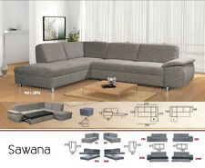 Sawana corner sofa bed, faux leather,fabric, left or right hand corner