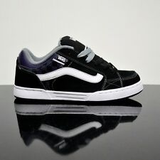 VANS SKINK BLACK  PATRIOT  WHITE YOUTHS TRAINERS (UK 3 EUR 35)