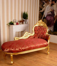 SOFA BED LAYING CHAISE LONGUE BAROQUE PALACE GOLD PRUNK