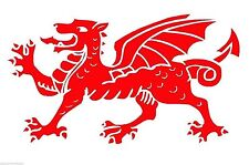 Welsh Red Dragon Wales Symbol Sticker Decal Graphic Vinyl Label