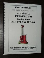 Van Norman Model 777-S Boring Bar Inst. & Parts Manual