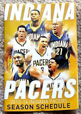 INDIANA PACERS POCKET SCHEDULE 2013-14 - MINT!