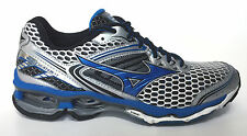 MIZUN0 WAVE CREATION 17 SILVER-BLUE RUNNING MEN SHOES SIZE 10