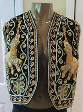 Ethnic Renaissance Medieval Gypsy Musician Turkish Embroidered Elephant Vest