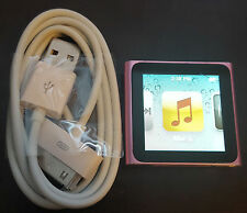 Pink Apple iPod Nano 6th Generation (16 GB) Bundled Charger! Works Great!