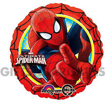 Marvel Spiderman Foil Balloon 45cm Birthday Party Anagram Helium FREE Ribbon