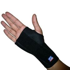 BLACK NEOPRENE ADJUSTABLE M/L RIGHT HAND WRIST SUPPORT STEEL SPLINT BRACE INJURY
