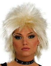 Blonde Punk Wig  Rocker Emo Mullet Goth 80'S Tina Turner Fancy Dress