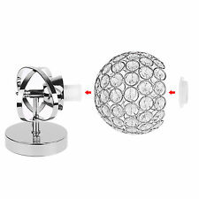 Fashion Silver Chrome Crystal LED Wall Light Sconce Fixture Bedroom Hallway Lamp