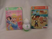 LeapFrog TAG Junior Reading System case Lot 2 Disney Princess and Jake Pirates
