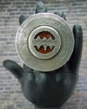 Vintage Large & Bold Aztec Design Mexican Sterling Silver Statement Ring