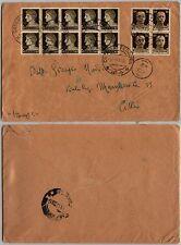 REGNO-Blocco dieci 10c(245)+Quartina 30c(249)IMPERIALE-Busta Catania 9.11.1945