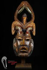 Discover African Art Large Polychrome Guro Mask