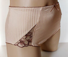 Pretty Ladies Biscuit Beige Midi style Panties Full Bum Knickers UK 20 XXXL