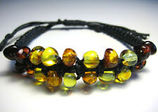 Natural  Baltic Amber men's bracelet