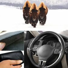 Car Auto Steering Wheel Cover 36cm / 14'' Leather DIY Non-Slip w/ Needle Thread