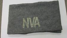 Vintage DDR East German NVA Military Winter Wool Blanket Grey Army Soldiers