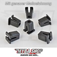20x DADO STELLA VW CLIPS UNIVERSALE PER CARROZZERIA NERO 867809966 #NUOVO#