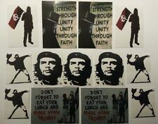 Anarchist Sticker Pack (14) - NEW - Antifa / Punk / Rebel / Anarchy Stickers
