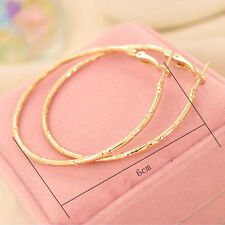 Fashion Circular Ring Earring Big Hoop Cutout Stud Gold Silver Earrings Hot