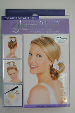 Glam It Up Blonde Up Do , Donut Bun Maker Hair Styling Kit - 3 Great Looks!