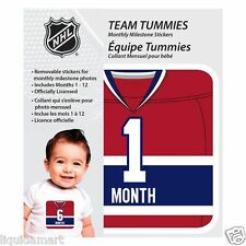 NEW BABY TEAM TUMMIES MONTREAL CANADIENS HOCKEY NHL MONTLY TSHIRT STICKER DECAL