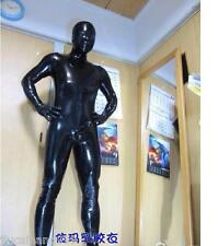 Handmade Real Natural Latex 0.48mm Bodysuit Catsuit Mask Suit Zentai Black