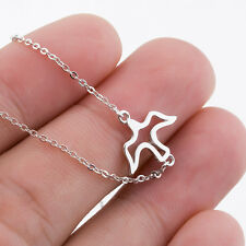 925 Sterling Silver SWALLOW BIRD /Peace Dove Bird Necklace Sparrow PENDANT