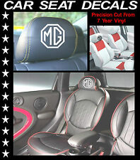MG CAR SEAT DECALS / HEAD REST VINYL STICKERS/ GRAPHICS SET X 5 L@@k