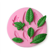 3D Leaf Shaped Silicone Fondant Mold Cake Decorating Baking Diy Mould Tools