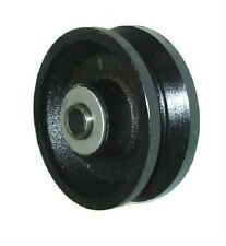 "Steel V-Groove Wheel 4"" Diameter x 1-1/2"" Wide with 1/2"" ID Roller Bearing, 600#"