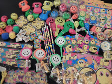 100 Small Emoji Smile/Smiley face Party Bag Fillers/Lucky Dip/Pocket Money Toys!