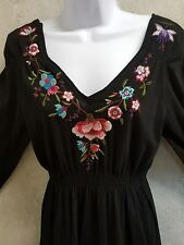JWLA Johnny was d Dress 3/4 sleeve Embroidered Size L