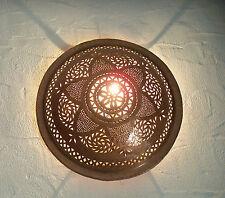 applique murale Marocaine fer patiné lampe lustre lanterne orientale bougeoir