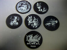 6 x Celtic Slate Crafts - handcrafted from 500 million years old slate coasters