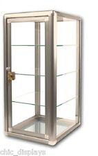 GLASS BRONZE COUNTERTOP CASE STORE FIXTURE BOUTIQUE SHOWCASE KEY LOCK (3) SHELF