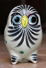 "Older Folk Art Owl Tonala Jalisco Mexico Pottery Stoneware 5 1/2"" Tall  Signed"