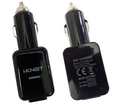 Genuine iKnot Dual Usb Car Charger Cigarette Lighter For Samsung Galaxy S4 , S3