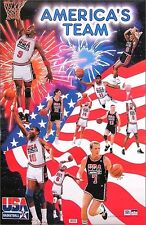 USA Original 1992 Olympic Basketball Dream Team Poster Jordan Bird Magic- Scarce