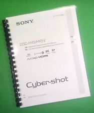 COLOR PRINTED Sony Camera Cyber-Shot DSC HX7 HX7V Manual Guide 56 Pages