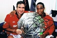 Signed Paul Ince Manchester United Charity Shield Autograph Photo