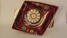 Art Deco Carlton Ware Lustre Flower & Falling Leaf Finned Diamond shaped Dish