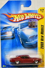 HOT WHEELS 2008 NEW MODELS '69 CHEVELLE #17/40 RED FACTORY SEALED