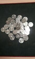 lot 100 pièces 2 franc nickel commémorative pour numismate, machine a sous