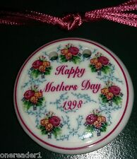 Longaberger 1998 Mother's Day RINGS & THINGS SWEETHEART BASKET Tie On