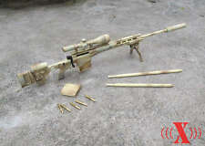 "1/6 X-Toys US Army MSR Modular Full Metal Sniper Rifle USMC F 12"" Figure Sand"
