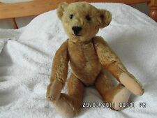 "ULTRA RARE 13"" 1904-1906 [4mm] ff BUTTON GOLD MOHAIR  FIVE CLAW STEIFF BEAR."